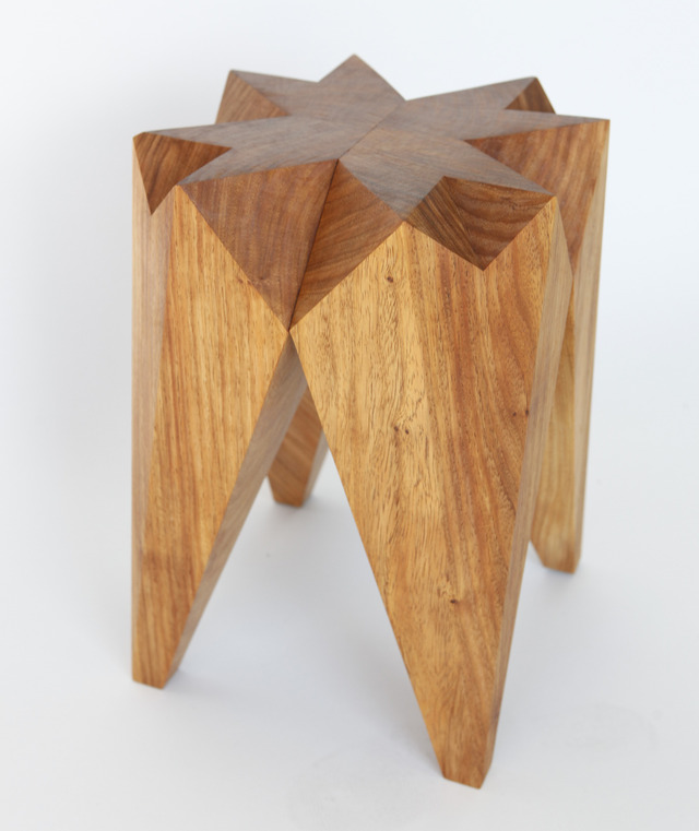 """Kaleidoscope"" stool / side table by Dominic van Riet - Stool, Side Table, Furniture, Faceted Side Table, Faceted Stool, Angular Stool, Angular Side Table, Feature Side Table, Feature Stool, Cafe Stool"