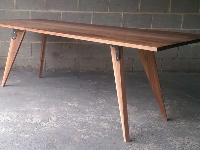 walnut dining table by Darren Gray - Walnut, Walnut Dining Table, Handmade Furniture, Designer Maker Melbourne, Industrial Furniture Design, Custom Made Furniture