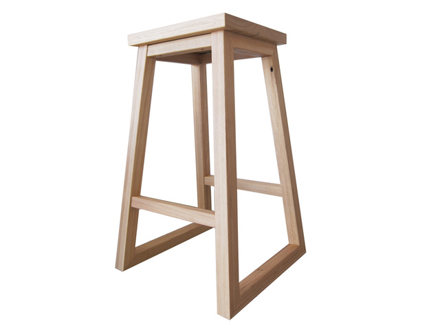 Dani Bar Stool  by RAW Sunshine Coast  - Stool, Bar Stool, Seat, Chair, Hardwood, Handcrafted, Blackbutt