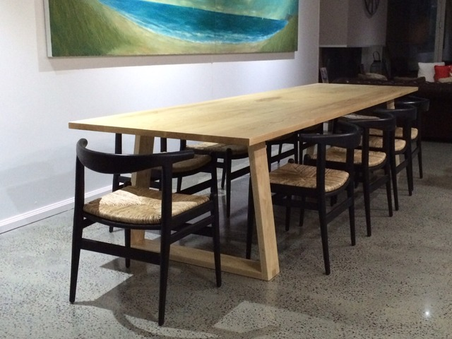 Wedge base dining table by Michael Hayes - Diningtable, Table, Furniture, Handmade, Interiorstyle, Interiordesign, Design, Homestyle