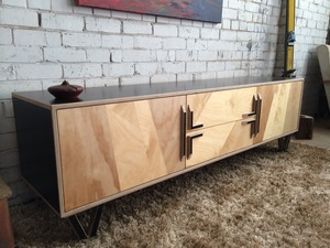 Console in ply by Michael Hayes - Console, Handmade, Madeinmelbourne, Interiorstyle, Interiordesign, Bespoke, Madetoorder, Homestyle