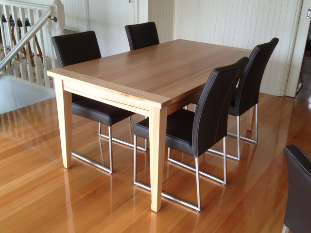 Breadboard End Dining Table by Grain Timber Furniture - Breadboard Dining, Vic Ash, Dining Table, Solid Timber, Made To Order, Custom, Bespoke, Colour Match