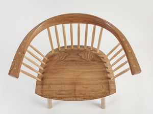 Lowback Stickchair by Bernard Chandley - Bespoke Chair, Dining Chair, Handmade