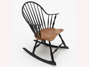 Continuous Arm Rocker by Bernard Chandley - Bespoke Chair, Windsor Chair, Hand Crafted, Hand Made