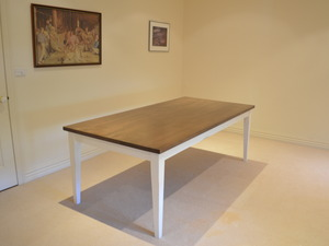 Provincial Dining Table by Grain Timber Furniture - Dining Table, Farmhouse Table, Victorian Ash, Colour Match, Kitchen Table