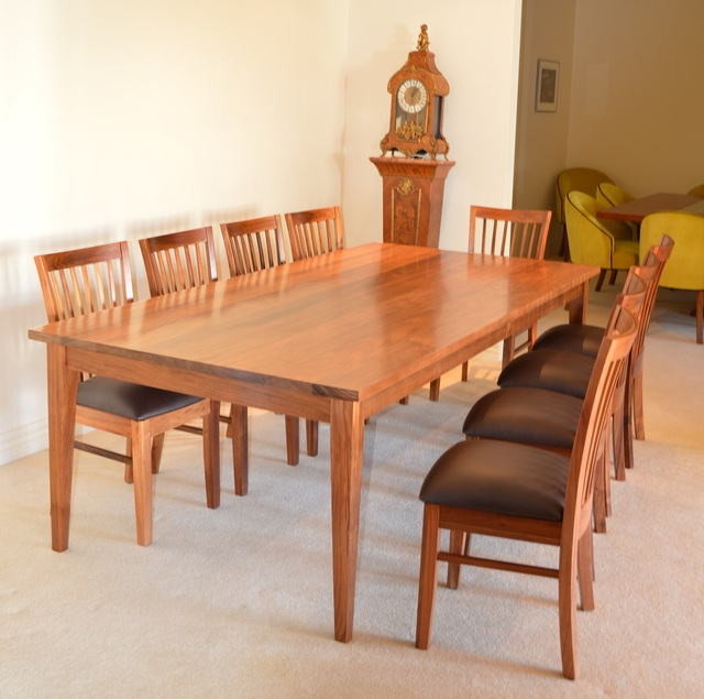 Blackwood Dining Table  by Grain Timber Furniture - Dining Table, Blackwood, Dining Chairs, Custom Made, Made To Order, Dining Table Chairs