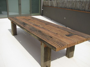 Rustic Wharf Table by Zac Pearton - Rustic, Recycled, Table, Outdoor