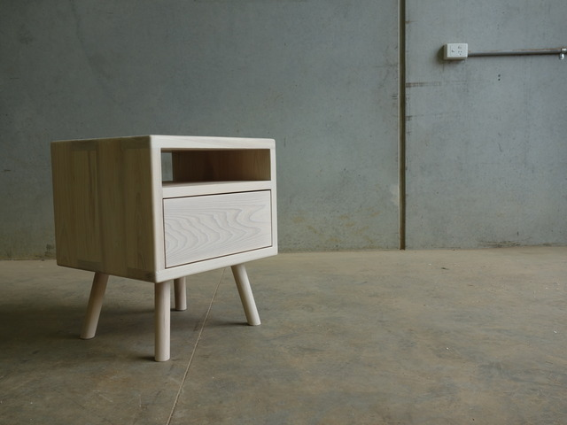 Road Runner Bedside Table by CHRISTOPHER BLANK - Design, Custom, Bedside Table, Christopher Blank, American Ash, Bedroom
