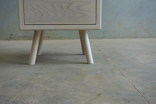 Road Runner Bedside Table by CHRISTOPHER BLANK - Design, Custom, Bedside Table, Christopher Blank, American Ash, Bedroom