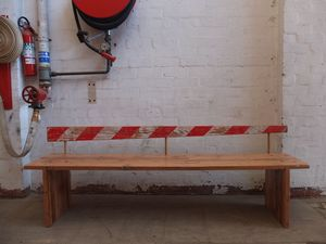 The Boom bench by Tim Denshire-Key - Recycled Timber, Bench Seat, Seating, Industrial, Porch, Dining, Backrest, Train, Melbourne, Oregon