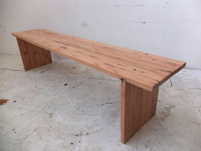 Bench seat by Tim Denshire-Key - Recycled Timber, Bench Seat, Oregon, Seating, Cafe