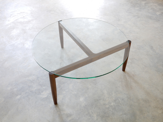 321 Coffee Table by Nathan Day Design - Coffee Table, Oak, Glass, Walnut, Black, Side Table