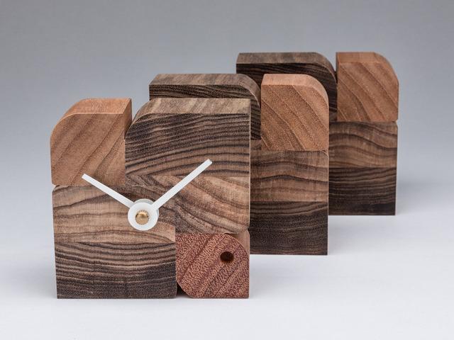 Birds of a Feather Desk Clock by Matt Taylor - Desk Clock, Hand Made, Real Wood, Giftware, Art Deco