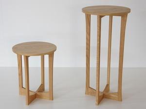 Tea Tables by Matt Taylor - Tea For Two, Dashingwood, American White Oak, Side Tables, Australian Made, Bespoke Furniture
