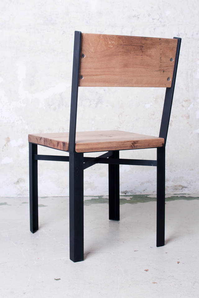 Stringy steel chair by Telegraph Road - Stringy Bark, Mild Steel
