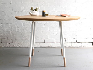 OTWAY Circle / Table by Archier - Vic Ash, Steel, Dining Table, Dining, Table, Compact, Apartment, Kitchen