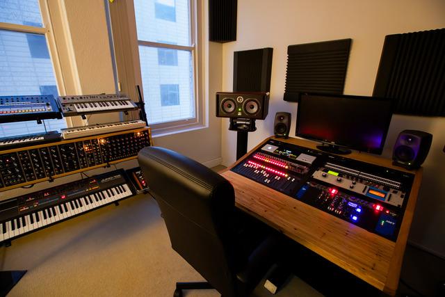 Modular mixing desk by Telegraph Road - Stringy Bark, Form Ply, Recording Studio, Mixing Desk
