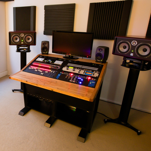 Modular mixing desk by Telegraph Road - Stringy Bark, Form Ply, Recording Studio, Mixing Desk