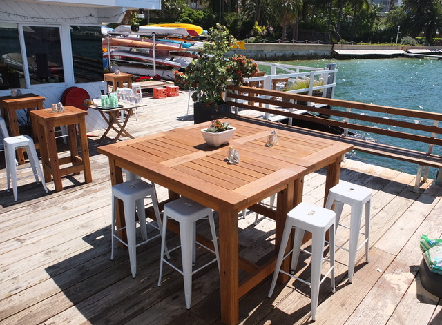 Outdoor tallowood tables by Telegraph Road - Outdoor, Tallowood, Australian Hardwood