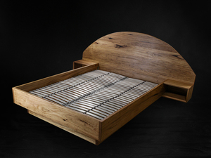 Blackbutt Timber Bed by mākimāki Furniture Works - Bed, Recycled, Timber, Blackbutt, Makimaki, Brisbane, Bedroom