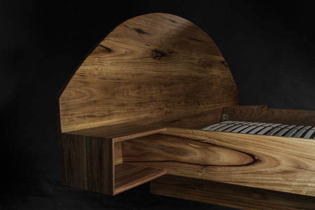 Blackbutt Timber Bed by makimaki Furniture Works - Bed, Recycled, Timber, Blackbutt, Makimaki, Brisbane, Bedroom