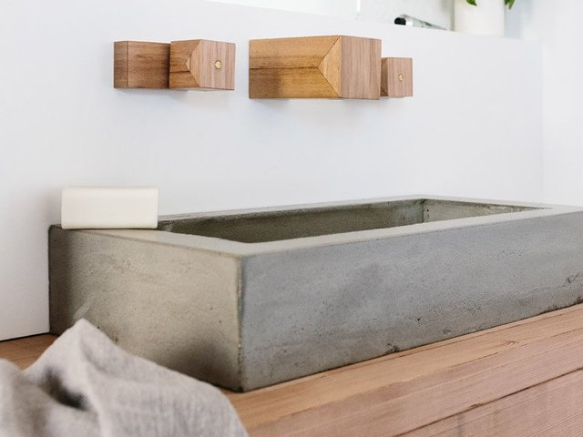 Maddie concrete basin by Oliver Maclatchy - Concrete Basin, Concrete, Basin, Vanity, Vanity Basin, Bathroom