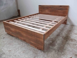 Minimalist bed by Tim Denshire-Key - Bed, Oregon, Custom, Frame, Bed Head, Recycled Timber, Flat Pack, Apartment Furniture, Brunswick, Melbourne