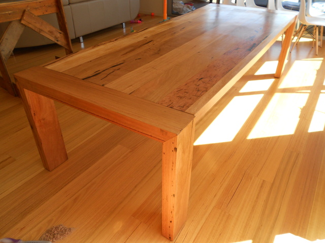 Tables by Barry Hughes - Table, Trestle, Hardwood, Recycled, Industrial