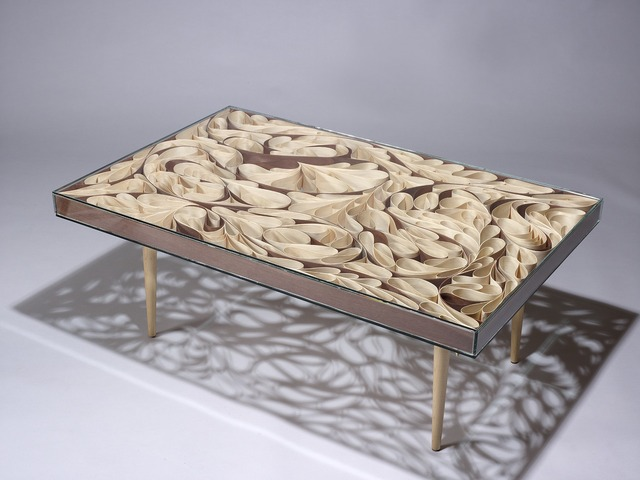 Coffee Table by Neil Turner - Coffee Table, Glass, Steam Bent, Curves