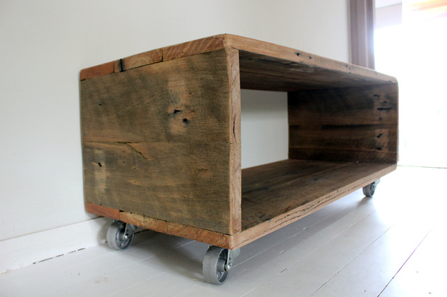HIDEAWAY COFFEE TABLE by BEECH STREET - COFFEETABLE, RECLAIMED, RECYCLED, RAFTERS, CASTORS, BESPOKE, CUSTOM, CUSTOMMADE, INDUSTRIAL, BEECHSTREET
