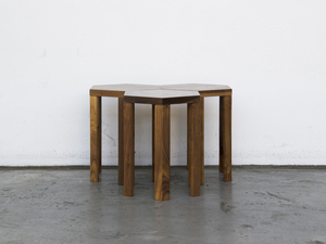 Hex Occasional Table by Paradox Movement - American, Walnut, Solid, Handcrafted, Contemporary, Occasional, Table, Modern