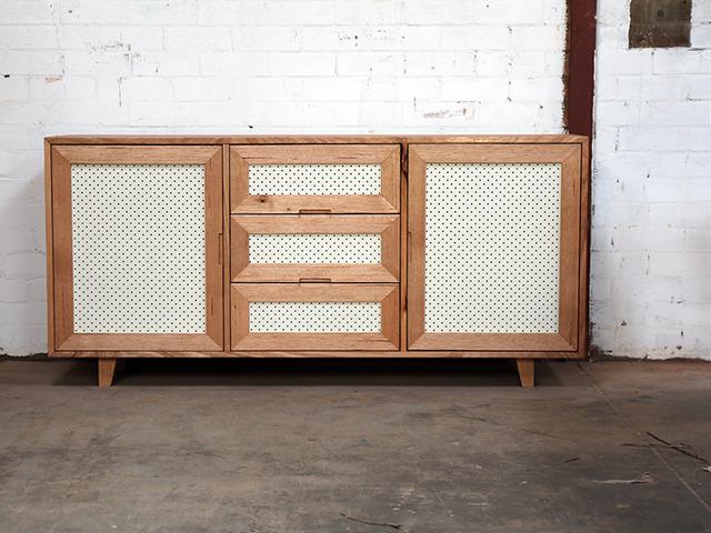 Tassie Oak Pinboard Sideboard by Chris Wann - Tassie Oak, Sideboard, Osmo Oil