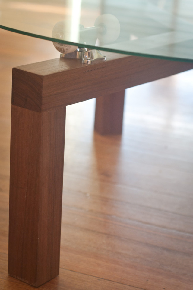 Lazy Susan Skate Table by Chris Wann - Blackbutt, Skate Table, Lazy Susan