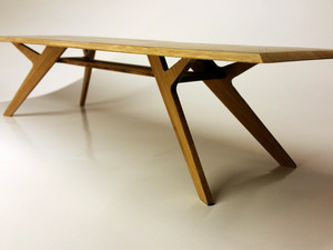 Facet conference/dining table by B Compact - Factet, Bamboo, Strand Woven Bamboo, Conference Table, Dining Table, Chanfered Edge, Sustainable Design, Efficient Design, Zero Waste Design