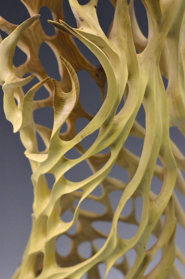 Sandalwood Fire Sculpture by Neil Turner - Sculpture, Organic, Freeform, Wood, Sandalwood