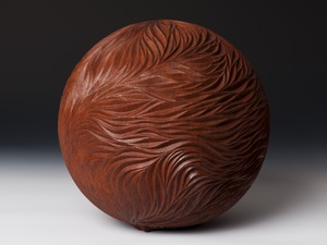 Jarrah Sphere by Neil Turner - Jarrah, Sculpture, Organic, Free Form
