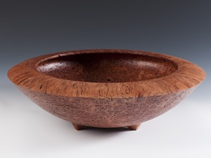 Large Jarrah Bowl by Neil Turner - Jarrah, Woodturning, Bowl