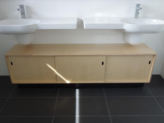 Plywood Vanity by Nathaniel Grey - Birch Plywood, Danish Style, Slidding Doors, Low Voc Finish