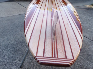 Solid cedar/ balsa Mal by Riley Classic Balsawood Surfboards - Balsa, Wood, Surfboard