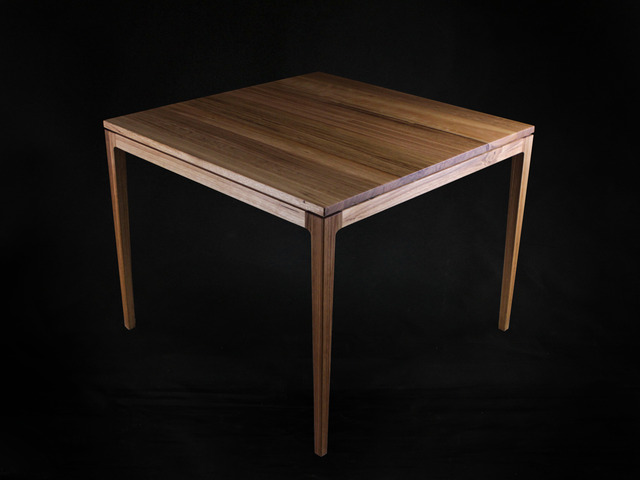 Blackbutt Timber Dining Table by makimaki Furniture Works - Dining Table, Square Table, Tapered Legs, Card Table, Makimaki, Cameron Hird, Brisbane