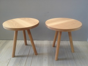 sidetable by Chris Colwell - Sidetable, Table, American Oak, Round Table