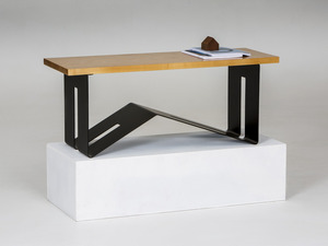 '1981' Table - Coffee/Side by GLENCROSS FURNITURE - Coffee Table, Side Table, Modern Design, Steel Base, Mixed Materials, Timber And Steel, Melbourne