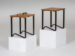 '1981' Tables - Side/Bedside by GLENCROSS FURNITURE - Side Tables, Bedside Tables, Recycled Timber, Australian Timber, Timber And Steel, Custom Made, Melbourne, Modern Design