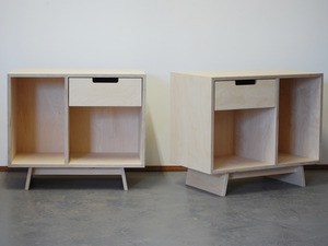 Sparrow Bedsides by Raw Edge Furniture - Plywood, Bedside Tables, Bed Side Tables, Birch Ply, Bedroom, Bedroom Furniture