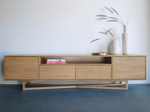 Yui Cabinet  by Raw Edge Furniture - American Oak, Dining Table, Dining, Oak, Cabinet, Braceboard, Oak Cabinet, Sideboard