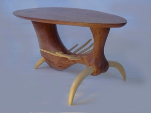 Mambo Coffee Table by Michael Hoffman - Silky Oak, Ivorywood