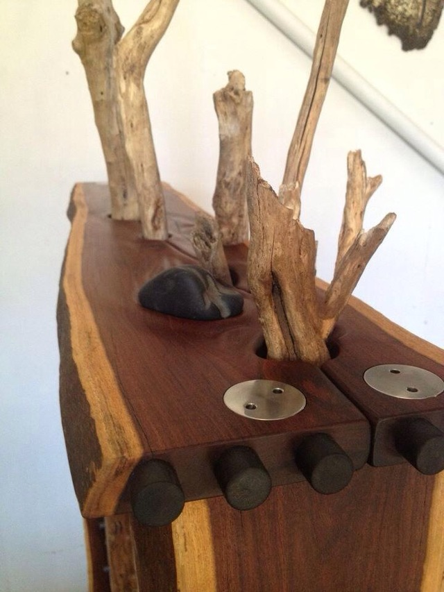 The Murrah by Michael Hoffman - Stones, Driftwood, Blackwood, Holly, Mulga, Redgum, Stainless Steel, Huon Pine