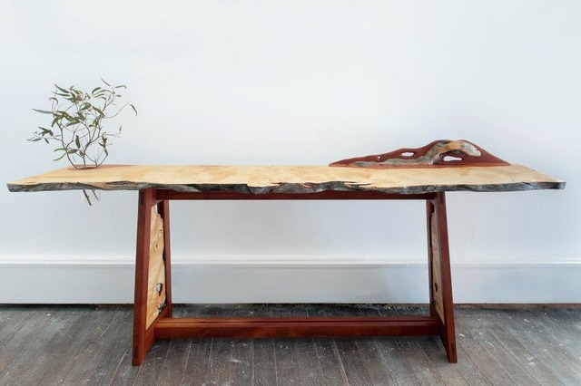 Hall Table by Michael Hoffman - Huon Pine, Rosewood, Glass