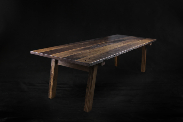 Geronimo Table by makimaki Furniture Works - Reclaimed, Timber, Table, Dining Table, Rustic, Recycled, Brisbane, Bar, Resturant, Cafe