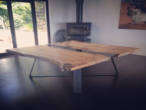 Mountain To The Sea Dining Table by Zac Pearton - Dining Table, Custom, Recycle